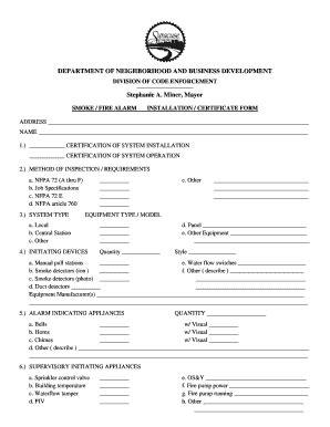 alarm installation certificate template intruder alarm certificate pdf fill printable