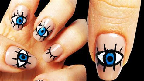Eye Nail Art Tutorial | eye occhio nail art tutorial youtube