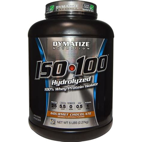 Iso Gold 5 Lb Chocolate dymatize nutrition iso 100 hydrolyzed 100 whey protein isolate gourmet chocolate 5 lbs 2 27
