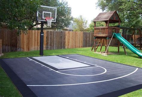 outdoor basketball court template diy patio staining stencil ideas dunkstar backyard