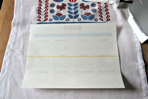 free printable 2018 tea towel calendar 187 dollar store crafts