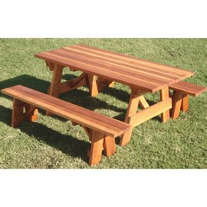 Best Redwood Traditional Picnic Table Set