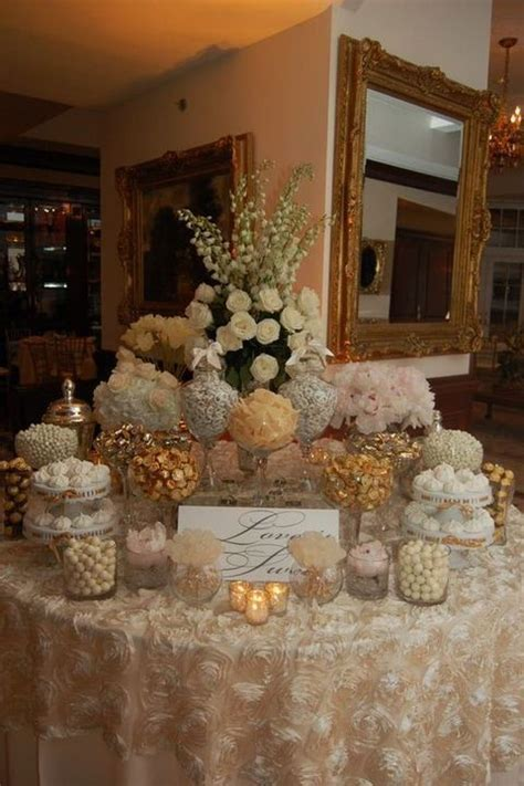 Love Is Sweet: 55 Wedding Candy Bar Ideas   dessert table
