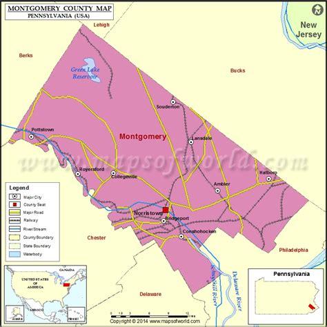 montgomery county map pennsylvania