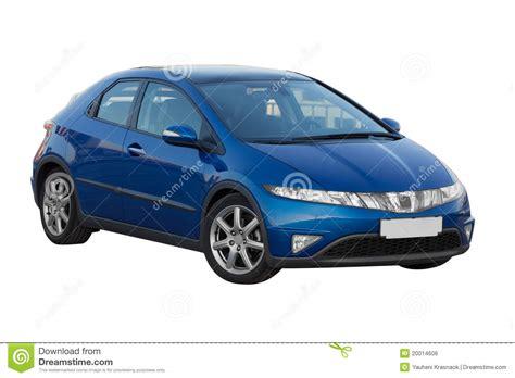 Blue Honda Civic 5d Royalty Free Stock Image   Image: 20014606