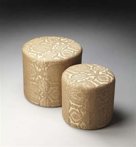 nesting ottomans butler 2953986 nesting ottomans gold damask fabric