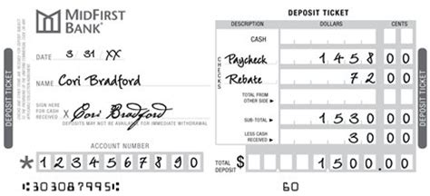 how to fill out a deposit ticket money basics managing a all about checks midfirst bank