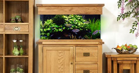 Oak Cabinet Fish Tanks by Aquaoak 110cm Doors And Drawers Aquarium Aquaoak