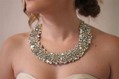 Handmade Bridal Jewelry - statement wedding jewelry bridal necklace etsy handmade