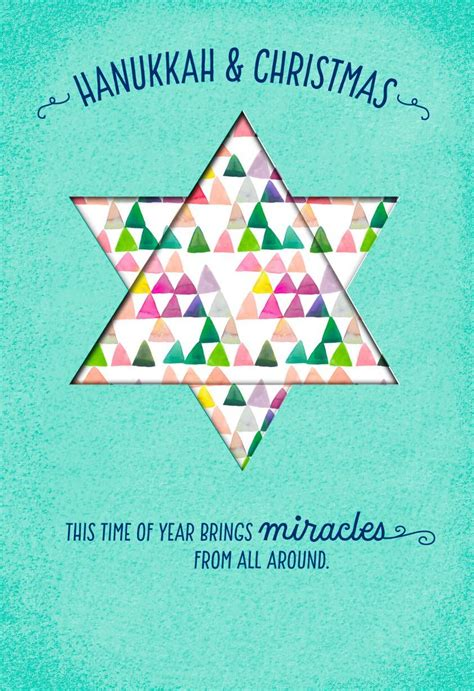 hanukkah  christmas miracles card greeting cards hallmark