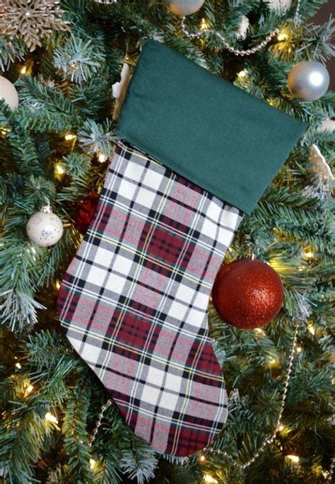 pattern for extra large christmas stocking plaid christmas stocking pattern allfreesewing com