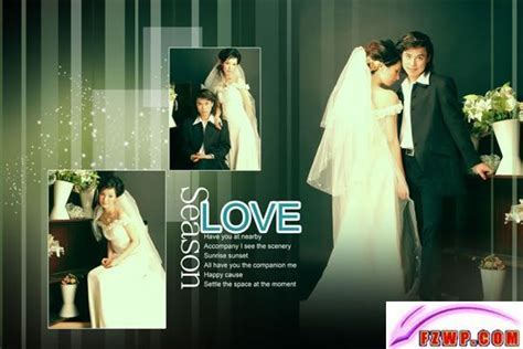 love wedding album design material, free wedding photo PSD