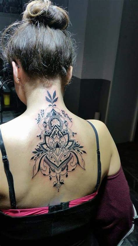 Neck Tattoo Aftercare | 25 unique mandala tattoo neck ideas on pinterest