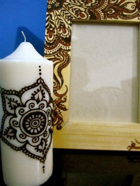 henna design on candle 8 best images about henna candles on pinterest henna