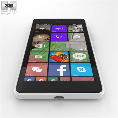 Microsoft Lumia 540 microsoft lumia 540 white 3d model hum3d