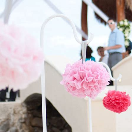 10PCS Handmade 4''(10CM) Tissue Paper Pom Poms Wedding