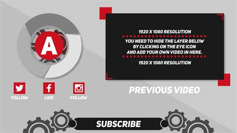 Neutral Free 2d Outro Template After Effects Cs5 Tem Adobe After Effects Outro Template