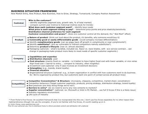 case interview case interview frameworks