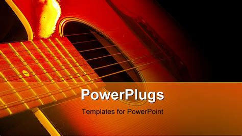 power point themes jazz guitar in the dark powerpoint template background of