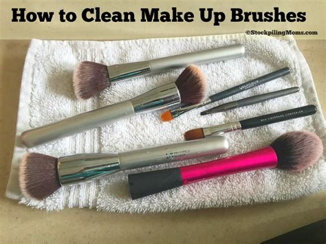 make clean how to clean make up brushes
