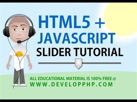 tutorial html5 y javascript html5 slider tutorial javascript function programming