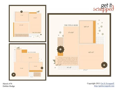 scrapbook layout pdf scrapbook page sketch and template bundle 79