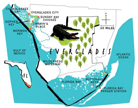 everglades national park map my in the florida and beyond everglades national park