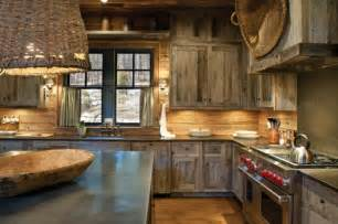 This rustic kitchen with the shaker style cabinetry is nice the added
