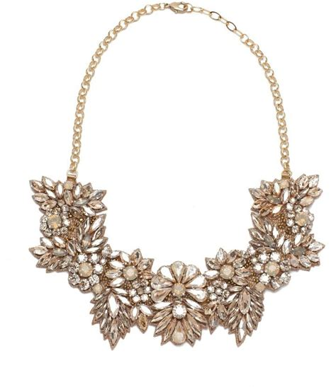 Wedding Bouquet Necklace by Deepa Gurnani Bouquet Of Crystals Bridal Necklace