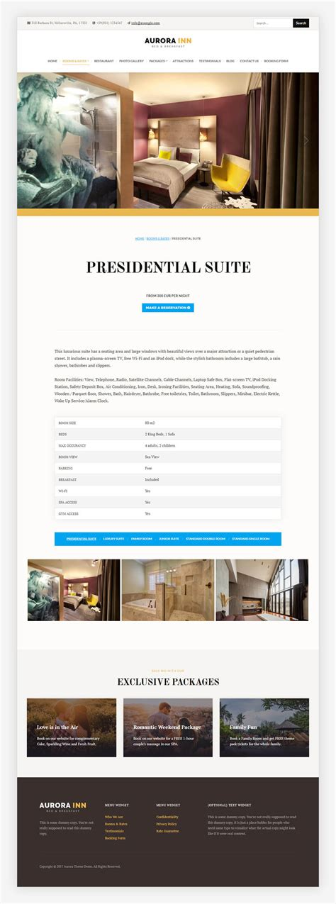 wordpress themes centered introducing aurora hotel wordpress theme 2018