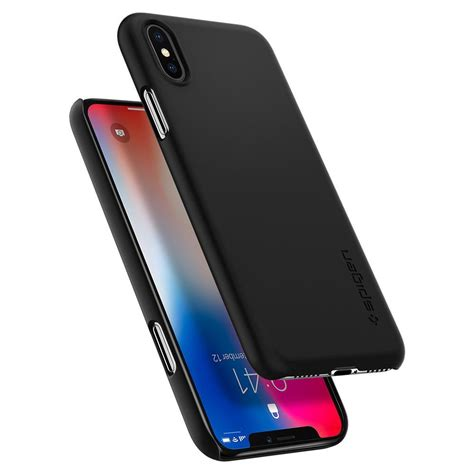 Casing I Phone X Ultra Thin Black iphone x genuine spigen ultra thin fit exact fit slim cover for apple