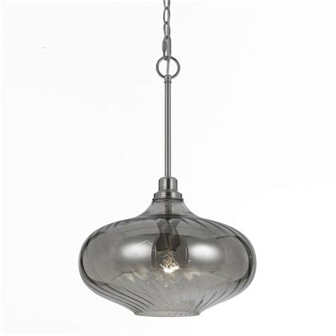 Smoked Glass Pendant Light Af Lighting 1 Light Iridescent Smoke Glass Pendant 8694 1p The Home Depot
