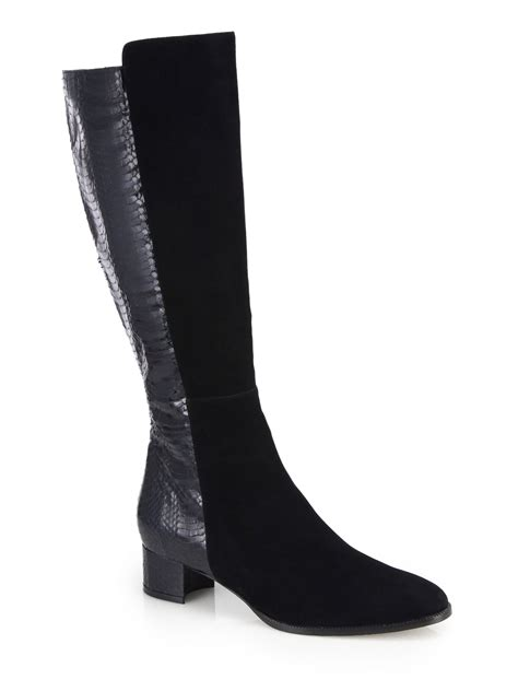 manolo blahnik boots manolo blahnik pascalare 30mm the knee boot in black