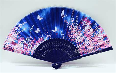 japanese silk hand fans silk japanese hand fan light blue folding fan yukata