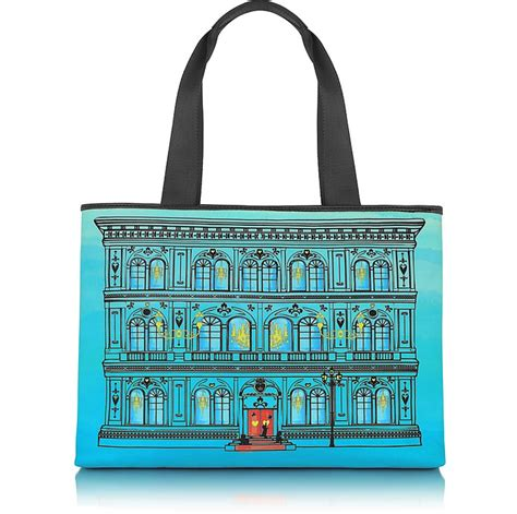 Moschino Canvas Rope Tote by Moschino Moschino Large Canvas Tote At Forzieri