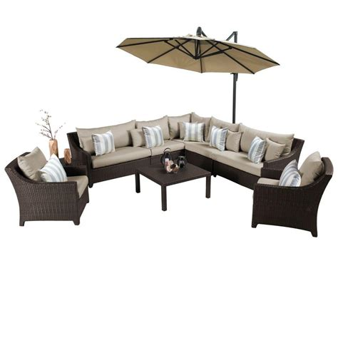 rst brands deco 9 all weather patio sectional set