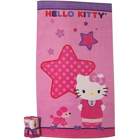 walmart hello kitty bathroom set sanrio hello kitty quot kitty and me quot 7 piece bath towel and