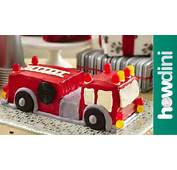 Birthday Cake Ideas How To Make A Fire Truck  YouTube