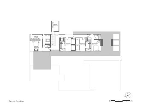 modern sloping block house design with three storey floor
