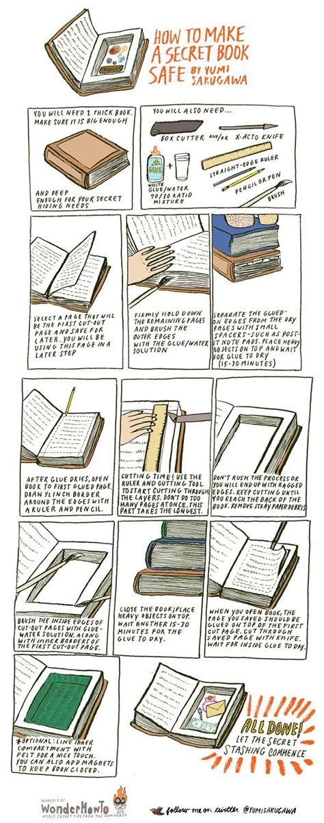 How To Make A Book With One Of Paper - how to make a secret book safe 171 the secret