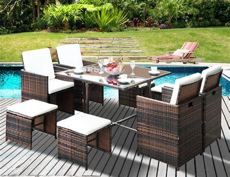 patio zone flieks leisure zone outdoor rattan wicker patio dining