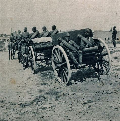world war 1 ottoman ottoman artillery on the march during the battle at the