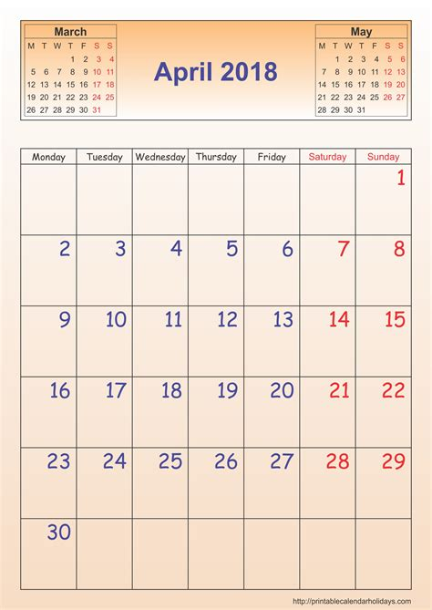 april 2018 calendar archives free printable calendar