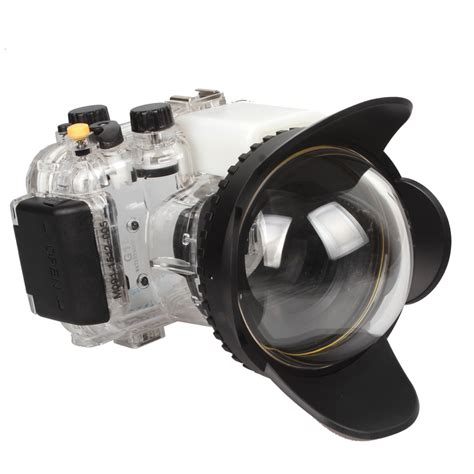 Underwater Meikon Waterproof For Nikon D7000 Black meikon waterproof underwater housing housing for canon g15 200mm fisheye wide