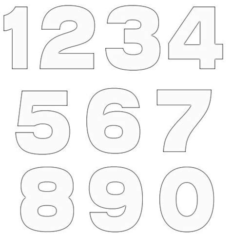printable number shapes 20 free various number template diy crafts free