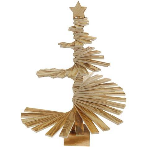 albero di natale da tavolo albero da tavolo decorativo spirale alt 56 cm naturale