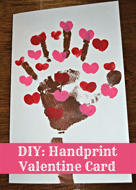 diy handprint crafts diy handprint s day card this s crafty