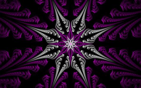 purple with silver fractal purple silver wallpapers fractal