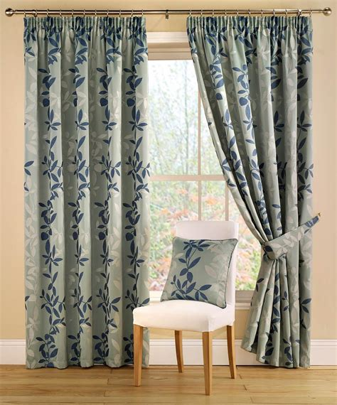 Teal Patterned Curtains Botanica Ready Made Lined Curtains Teal Free Uk Delivery Terrys Fabrics