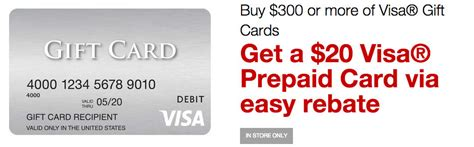 Purchasing A Visa Gift Card - get 20 back when you buy 300 in visa gift cards at staples